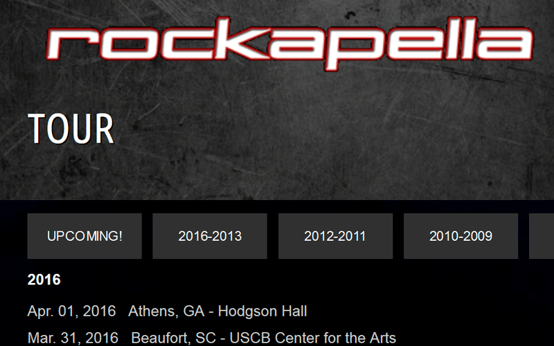 Rockapella.com Past Gigs List